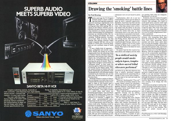 Article Preview: Drawing the 'smoking' battle lines, March 1984 | Maclean's