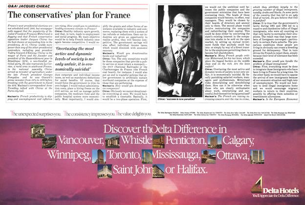 Article Preview: The conservatives' plan for France, March 1984 | Maclean's