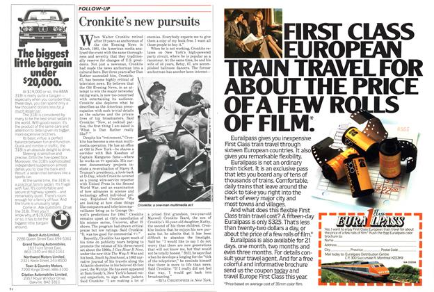 Article Preview: Cronkite's new pursuits, March 1984 | Maclean's