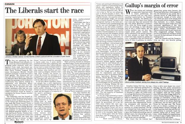 Article Preview: The Liberals start the race, March 1984 | Maclean's