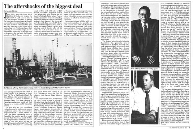 Article Preview: The aftershocks of the biggest deal, March 1984 | Maclean's