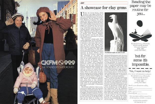 Article Preview: A showcase for clay gems, March 1984 | Maclean's