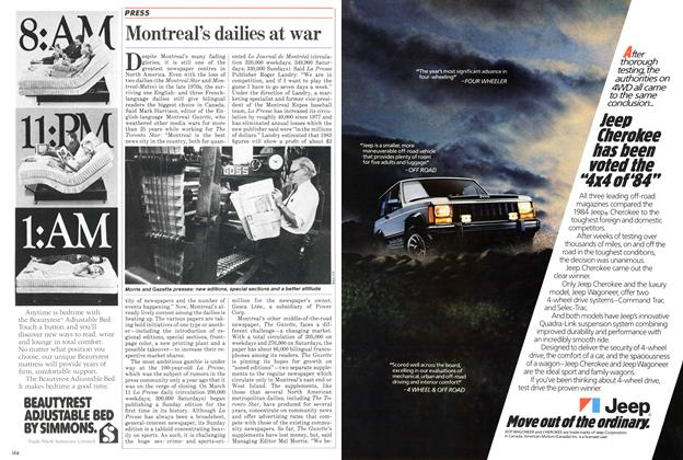 Article Preview: Montreal's dailies at war, March 1984 | Maclean's