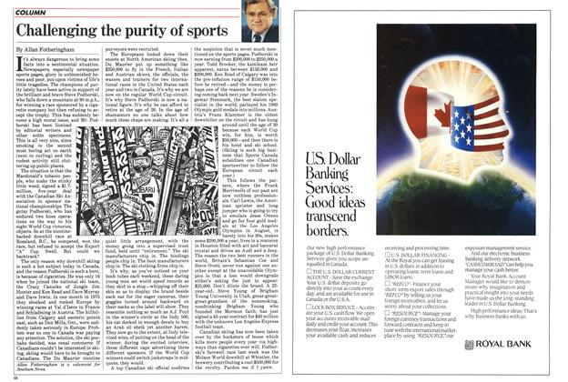 Article Preview: Challenging the purity of sports, March 1984 | Maclean's