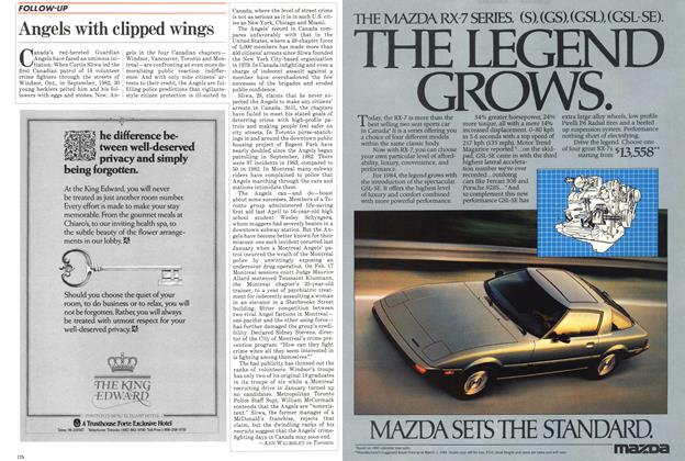 Article Preview: Angels with clipped wings, March 1984 | Maclean's