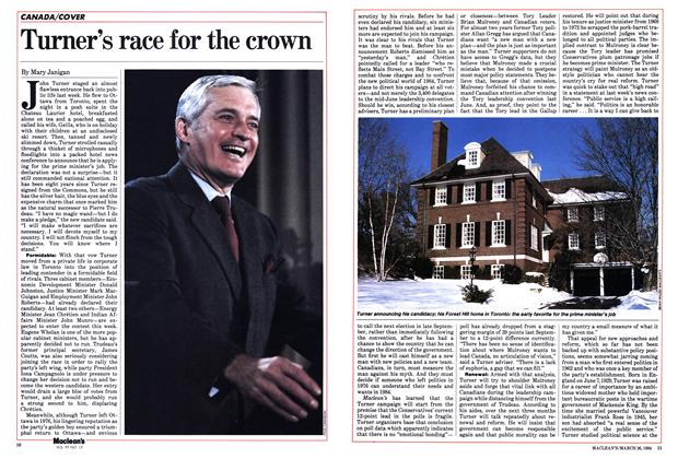 Article Preview: Turner's race for the crown, March 1984 | Maclean's
