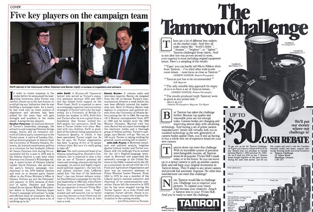 Article Preview: Five key players on the campaign team, March 1984 | Maclean's