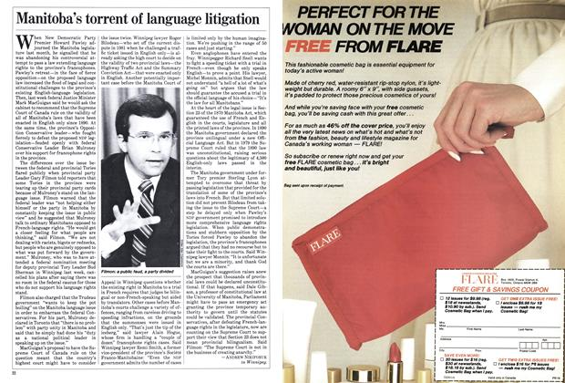 Article Preview: Manitoba's torrent of language litigation, March 1984 | Maclean's