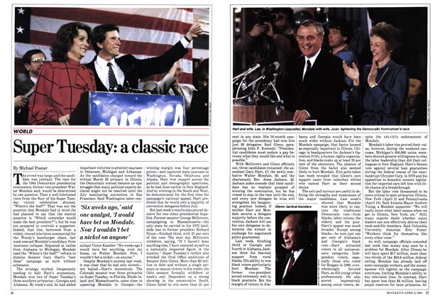 Article Preview: Super Tuesday: a classic race, March 1984 | Maclean's