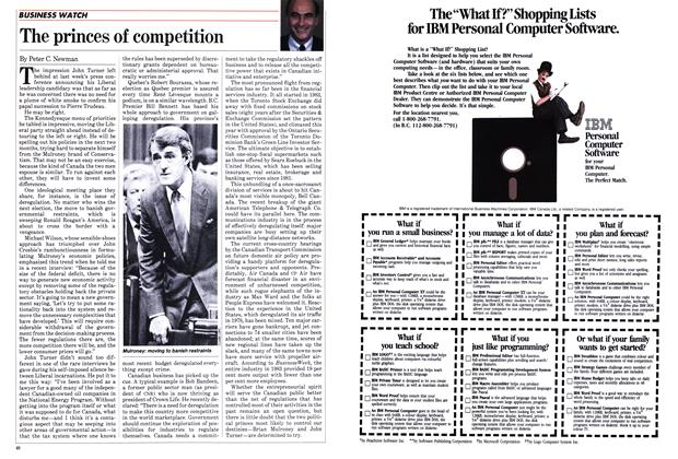 Article Preview: The princes of competition, March 1984   Maclean's