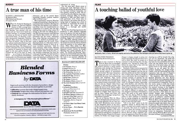 Article Preview: A touching ballad of youthful love, March 1984 | Maclean's