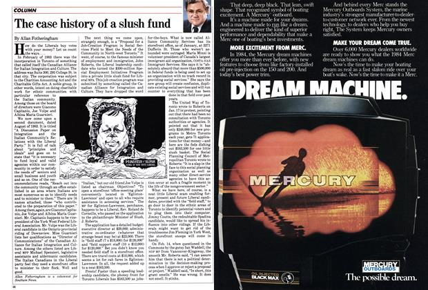Article Preview: The case history of a slush fund, March 1984 | Maclean's