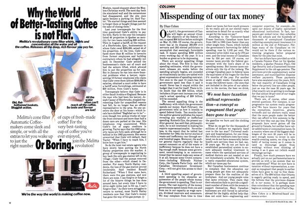 Article Preview: Misspending of our tax money, March 1984 | Maclean's