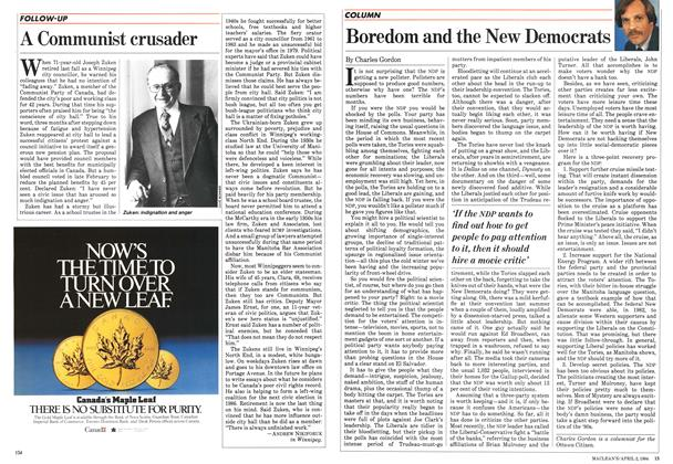 Article Preview: Boredom and the New Democrats, April 1984 | Maclean's