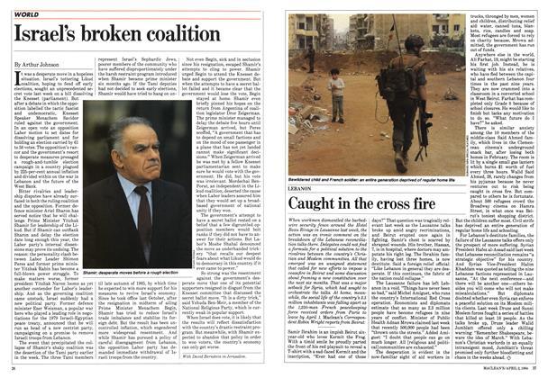 Article Preview: Israel's broken coalition, April 1984   Maclean's