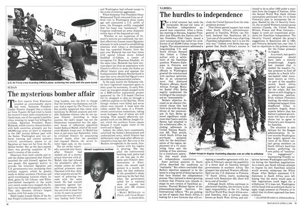 Article Preview: The mysterious bomber affair, April 1984 | Maclean's