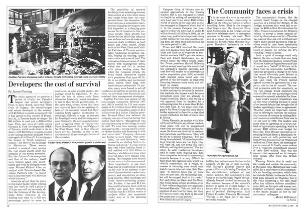Article Preview: The Community faces a crisis, April 1984 | Maclean's