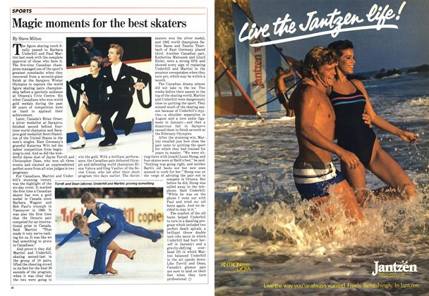 Article Preview: Magic moments for the best skaters, April 1984 | Maclean's