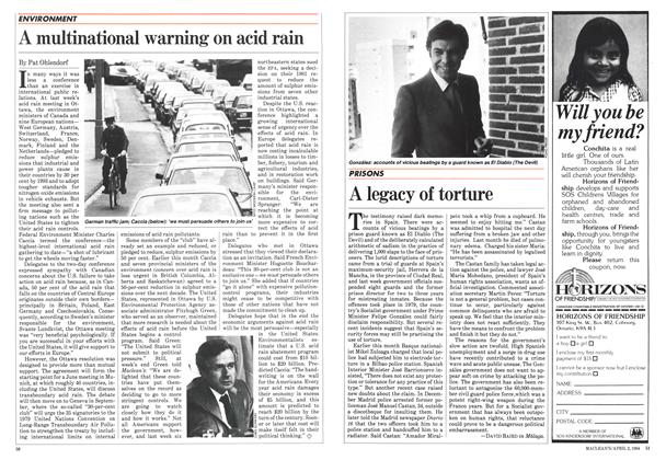 Article Preview: A multinational warning on acid rain, April 1984 | Maclean's