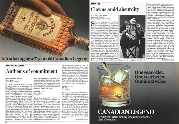 Article Preview: Anthems of commitment, April 1984 | Maclean's
