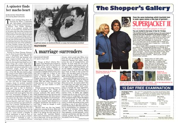 Article Preview: A spinster finds her macho heart, April 1984 | Maclean's