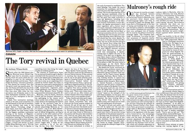 Article Preview: Mulroney's rough ride, April 1984 | Maclean's