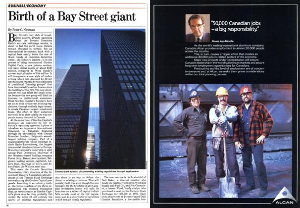 Article Preview: Birth of a Bay Street giant, April 1984 | Maclean's