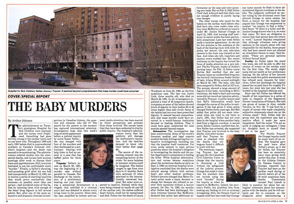 Article Preview: THE BABY MURDERS, April 1984 | Maclean's