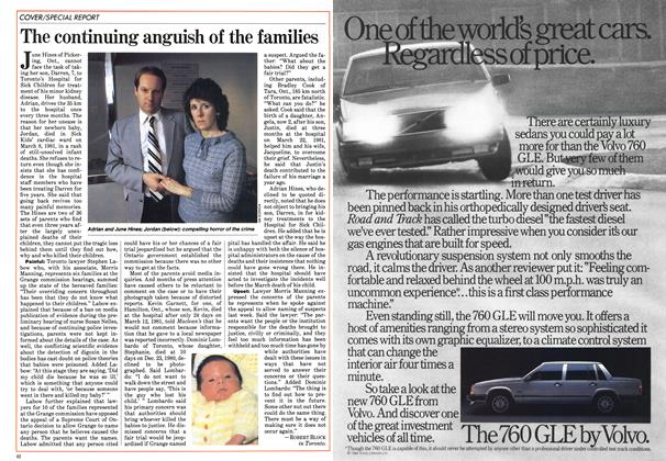Article Preview: The continuing anguish of the families, April 1984 | Maclean's