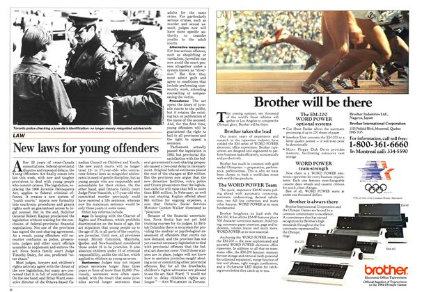 Article Preview: New laws for young offenders, April 1984 | Maclean's