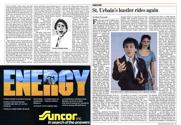Article Preview: St. Urbain's hustler rides again, April 1984 | Maclean's