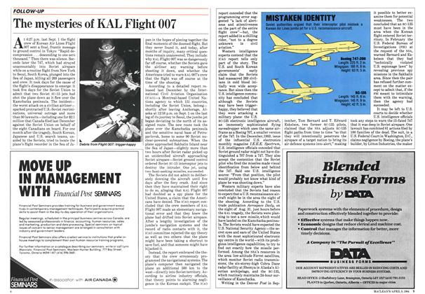 Article Preview: The mysteries of KAL Flight 007, April 1984 | Maclean's