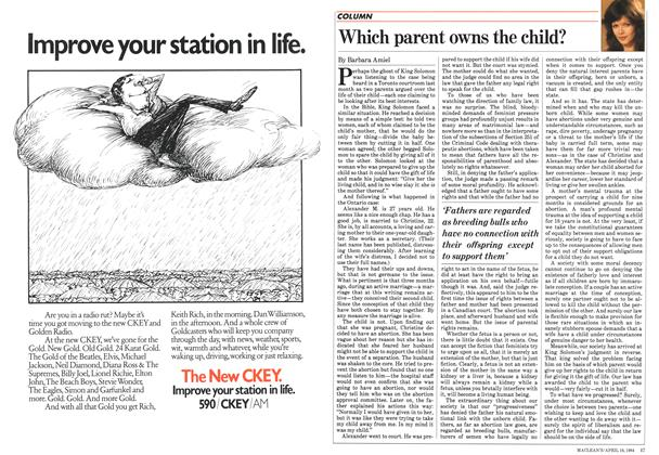 Article Preview: Which parent owns the child?, April 1984 | Maclean's