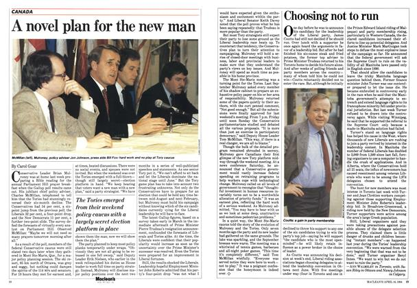 Article Preview: A novel plan for the new man, April 1984 | Maclean's