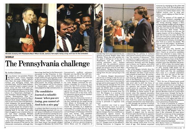 Article Preview: The Pennsylvania challenge, April 1984 | Maclean's