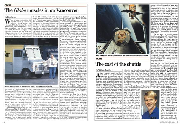 Article Preview: The cost of the shuttle, April 1984 | Maclean's
