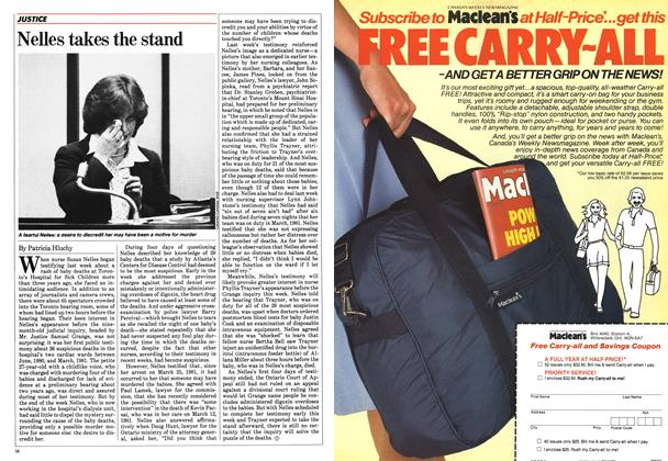 Article Preview: Nelles takes the stand, April 1984 | Maclean's