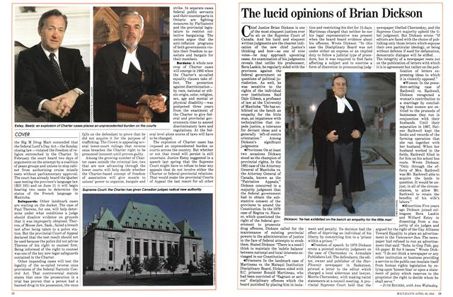 Article Preview: The lucid opinions of Brian Dickson, April 1984 | Maclean's