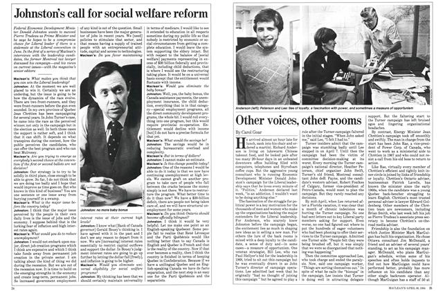 Article Preview: Johnston's call for social welfare reform, April 1984 | Maclean's