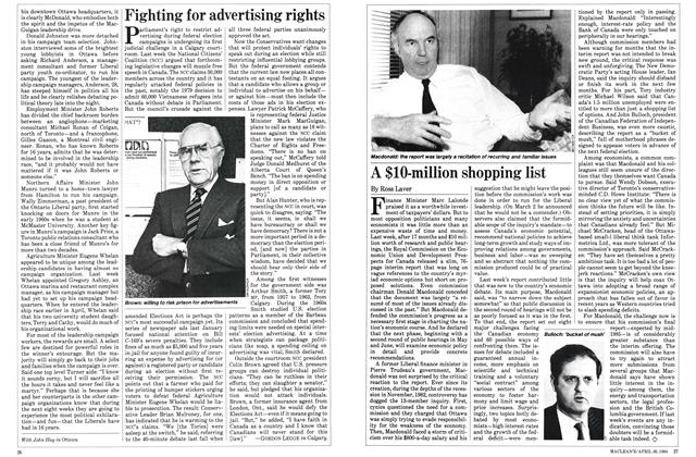 Article Preview: A $10-million shopping list, April 1984 | Maclean's