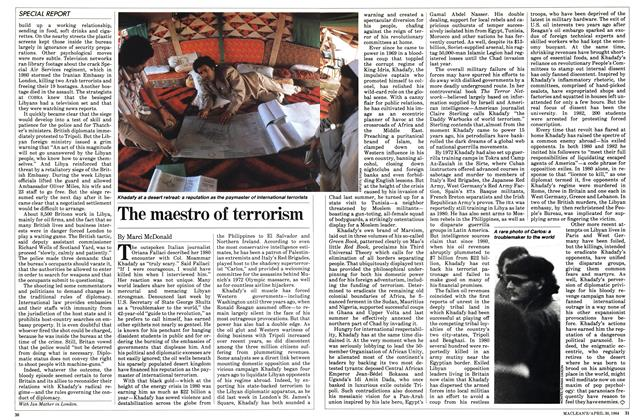 Article Preview: The maestro of terrorism, April 1984 | Maclean's