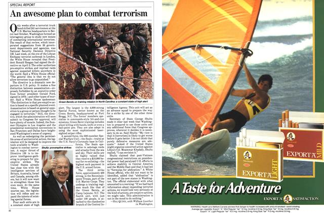 Article Preview: An awesome plan to combat terrorism, April 1984 | Maclean's