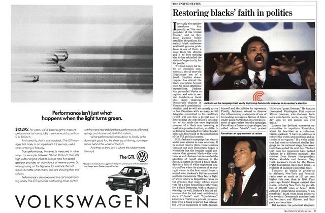 Article Preview: Restoring blacks' faith in politics, April 1984 | Maclean's