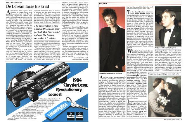 Article Preview: De Lorean faces his trial, April 1984 | Maclean's