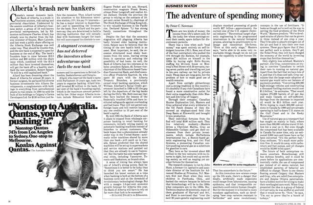 Article Preview: The adventure of spending money, April 1984 | Maclean's