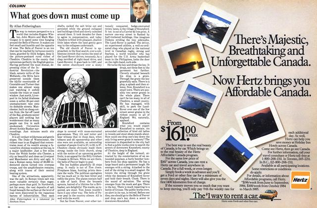Article Preview: What goes down must come up, April 1984 | Maclean's