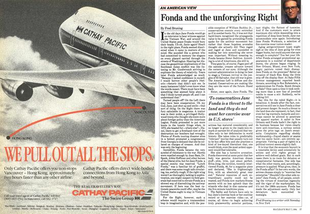 Article Preview: Fonda and the unforgiving Right, May 1984 | Maclean's