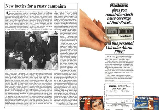 Article Preview: New tactics for a rusty campaign, May 1984 | Maclean's