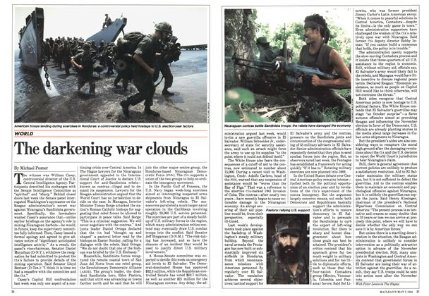 Article Preview: The darkening war clouds, May 1984 | Maclean's