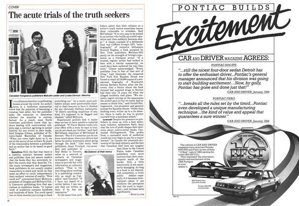 Article Preview: The acute trials of the truth seekers, May 1984 | Maclean's